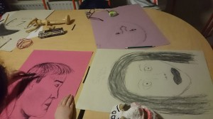 Drawing workshops in Westside Youth Project