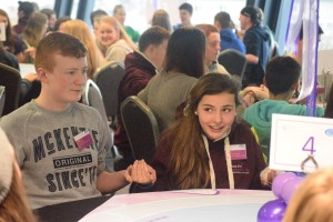 Alicia from Galway City Comhairle na nÓg involved in activities in Dáil na nÓg 2015 in Croke Park