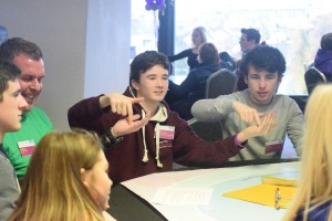 Morgan from Galway City Comhairle na nÓg involved in activities in Dáil na nÓg 2015 in Croke Park