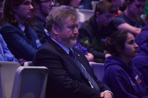 Dr. James Reilly listens to answers of the panel at the Dáil na nÓg 2015 Q&A