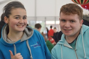 Regan and Joseph from Ballinasloe County Comhairle group