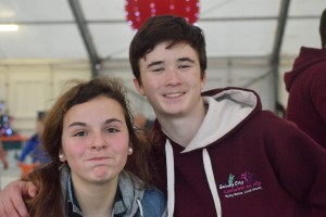 Two members of the city Comhairle who attended the county event.