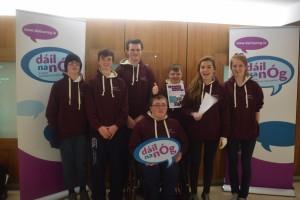 Galway City Comhairle na nÓg members group photo at Dáil na nÓg 2015