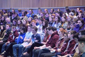 Comhairlí delegates listen to Dr. James Reilly's opening speech for Dáil na nÓg 2015