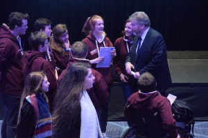 Galway City Comhairle na nÓg members meeting Dr. James Reilly at the Dáil na nÓg 2015 in Croke Park