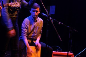 Tadhg from Twelve String performing at the Irish Youth Music Awards Regional Event