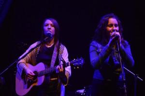 Amanda and Machaela of Twelve String performing at the Irish Youth Music Awards Regional Event